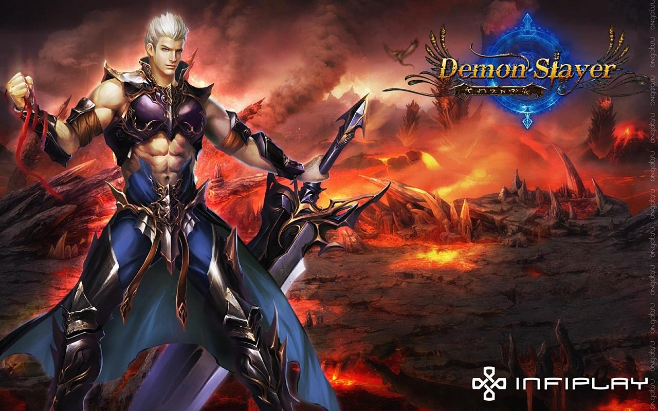 Обои devil, powerful, rock, girl, vampire, oni, battlefield, blood, blade, wing, sword, combat. Разное foto 9