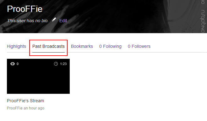 how to get past broadcasts on twitch