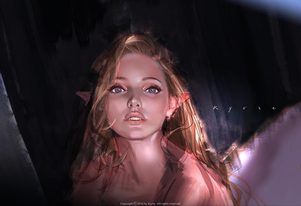 Красивый арт от цифрового художника Kyrie из Южной Кореи