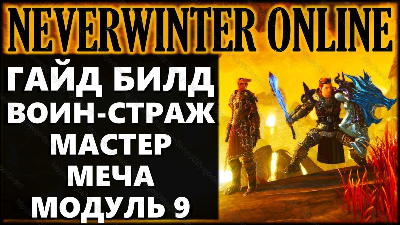 Воин-страж мастер меча билд Модуль 9