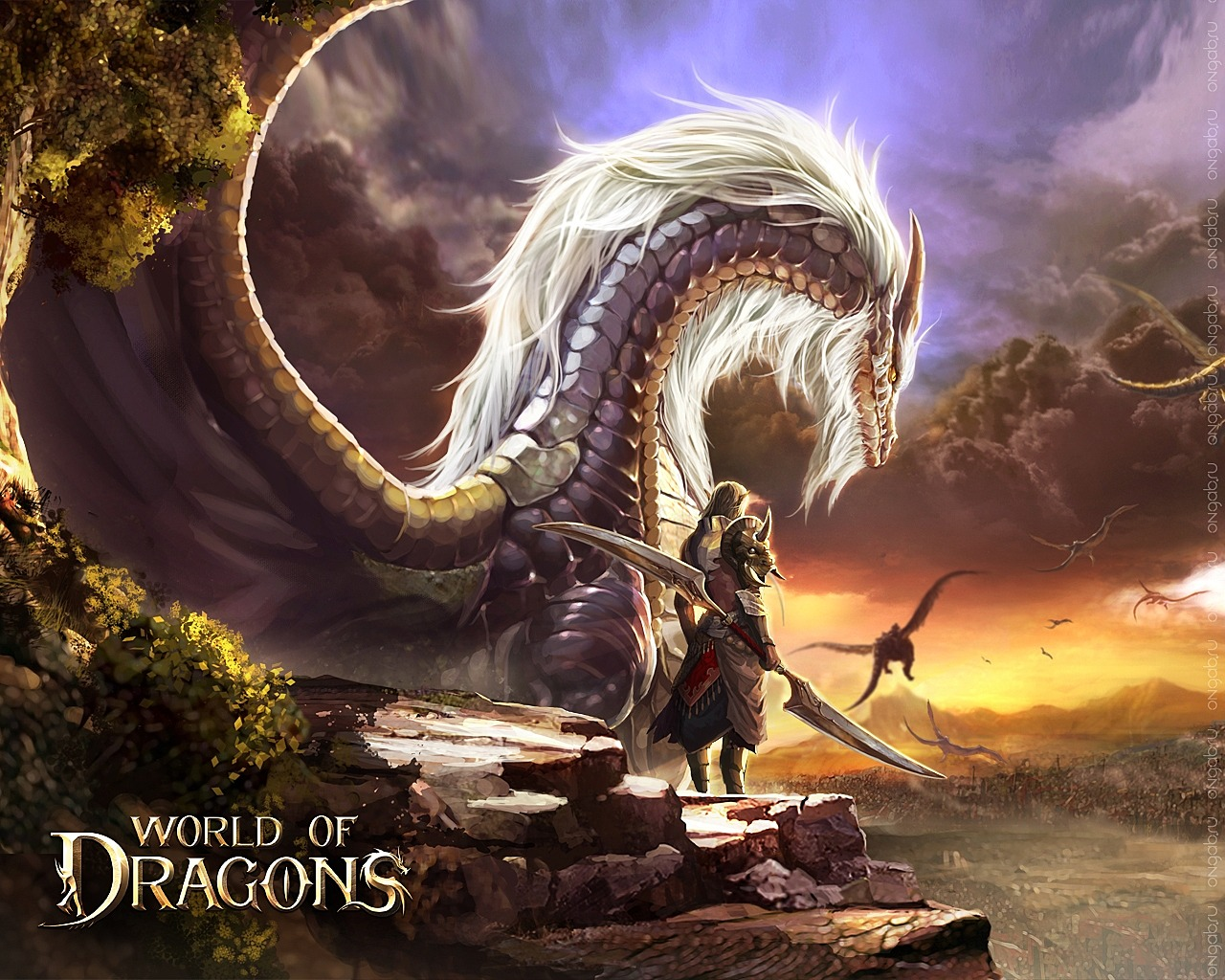 Скриншот HD обои World of Dragons